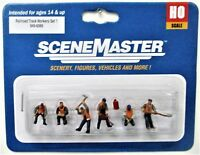 HO Scale Walthers SceneMaster 949-6066 Railroad Track Workers Figure Set #1