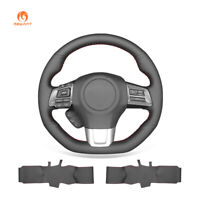 Hand Stitched PU Leather Steering Wheel Cover for Subaru WRX (STI) Levorg 2015