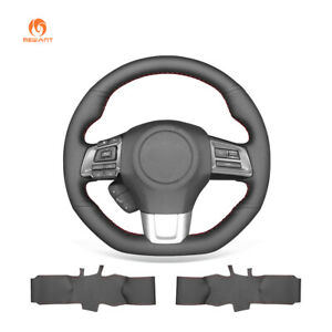 Hand Stitch PU Leather Car Steering Wheel Cover for Subaru WRX (STI) Levorg 2015