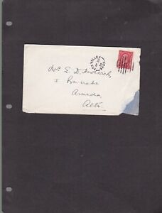 1935 FOX VALLEY SASK SPLIT RING TOWN CANCEL ON  COVER