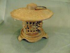 Cast iron garden pagoda lantern metal votive candle indoor outside Asian art