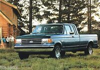 1991 FORD F-SERIES PickUp TRUCK Brochure: SUPERCAB,XLT,CUSTOM,XL,LARIAT,150,250,