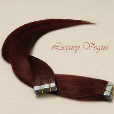 40Pcs Seamless Tape-in Extensions 100% Human Hair #99J(Deep Wine Burgundy)(AUFP)