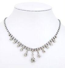 Modeschmuck-Halsketten & -Anhänger im Collier-Stil aus Gemischte Metallen mit Strass