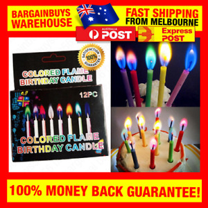 12pcs Colorful Flame Birthday Party Candles Multi Coloured Candle