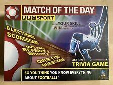 BBC Sport match del día de acción juego de Trivia con la placa de puntuación de electrónica