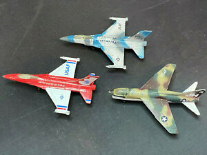 Vintage Matchbox USAF Air Force Diecast Corsair F-18 Airplane Military Plane Lot