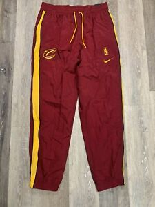 Nike Cleveland Cavaliers Court Side Tracksuit Pants Red Size Large AH8812-677