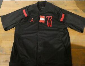 "Nike Air Jordan Sportswear ""Last Shot"" Mesh Bomber Jacket Size Large AQ0616-010"