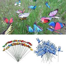 100pcs Metal Dragonfly & Butterfly Stakes Creative Flowerpot Garden Decor