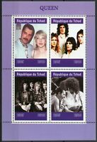 Chad 2019 MNH Queen Freddie Mercury 4v M/S Music Celebrities Stamps