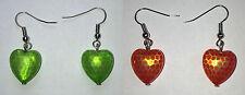 Markenlose Mode-Ohrschmuck aus Kunststoff mit Herz-Schliffform