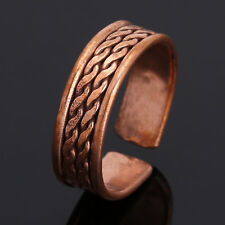 Tibetan Medicine Ring Copper Magnetic Adjustable Pain Releif Ring Pure Copper
