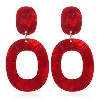 Fashion Big Vintage Geometry Oval Acrylic Earrings Statement for Women Jewelry