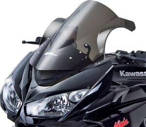 Parabrezza moto Schermo Parabrezza Shield Double Bubble parabrezza Kawasaki Ninja ZX12R ZX 12R 2000 2001 Color : Black
