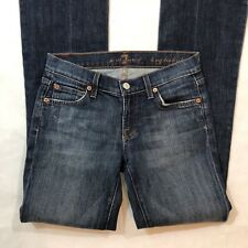 """7 For All Mankind Women's Size 25 Jeans Long Bootcut Denim 31"""" Inseam"""