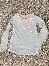 Girl's Jillian's Closet Gray Pink Flower TShirt Size L 6X