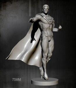 1/24 Resin Figure Model Kit SuperHero SuperMan Unpainted Unassambled