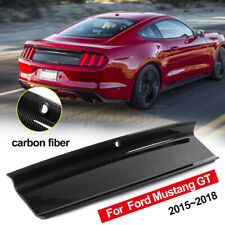 For Ford Mustang GT 2015-2018 Carbon Fiber Rear Trunk Panel Decklid Trim  @ L