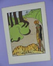 Una Geografia dell'Arca di Noè, Mabel dearmer ANTICO LIBRO stampa RIF. 9, Tiger