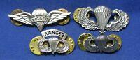 Vietnam War Airborne Senior Parachutist Jump Wings, Rigger, Ranger Badges Lot