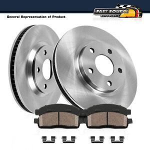 For Hyundai Equus Kia K900 Front Brake Rotors & Ceramic Pads