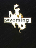 Vintage Collectible Wyoming Bucking Bronco Horse Rider Metal Pin Back