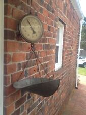 Vintage John Chatillon  & Sons NY Makers Hanging Produce Scale w/ Large Basket