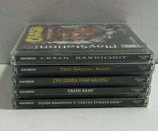 Original Authentic Ps1 Playstation Sony Ent Crash Bandicoot Game Lot