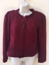 Cabi Britt Women's Merlot Wine Zip Front Size 6 Jacket/Blazer