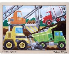 Melissa and & Doug ~ CONSTRUCTION Vehicles ~ 12 Piece ~ 3+ Years ~ 30cm x 22cm