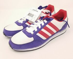 Adidas NEO City Racer Women's Size 9.5 Shoes Red White Purple New
