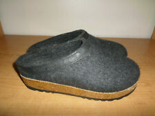 Haflinger Gray Wool Clog Slippers Women's Size 37 - Super Nice - Fast Shipping