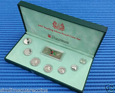 1997 Singapore Sterling Silver Proof Coin Set (1¢ - $5 Coin)