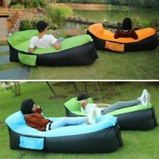 Inflatable Sun Lounger Outdoor Furniture Camping Lazy Bag Air Sofa Beach Bed UK