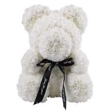 Weihnachtsgeschenk Rose Bear Flower Valentinstag Party Love Teddy 25cm Weiß