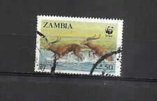 ZAMBIA - WWF Black Lechwe - endangered animals  Scott 429  SG  539