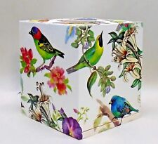 Made To Order,Handmade Decoupage Wood Tissue Box Cover, Bird Song