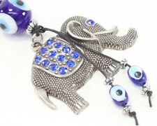 Blue Evil Eye Elephant Keychain Blessing Protection Religious Gift US Seller