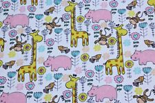 "Giraffe yellow sweat shirt fabric, knit fabric, ""68"", 94/6 sold by metre, kids"