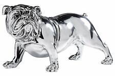 Kare Design Deco Figurine Bulldog Silver 22cm - 32840 , NEW