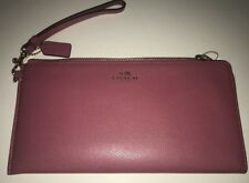 COACH Darcy Leather Holdall Wallet Wristlet SUNSET RED Purse ($268) NWT Gift