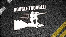 DOUBLE TROUBLE FORTNITE Car Sticker Funny Laptop Decal Stickers PC GAME XBOX
