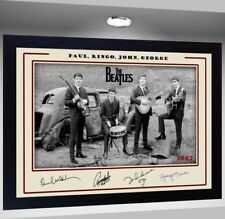 THE BEATLES signed autograph Music Art pre-print Framed POSTER