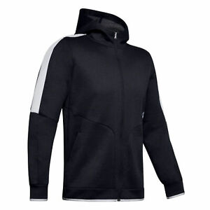Under Armour Mens Athlete Recovery Zip Up Hoodie Track Top 1348407 002