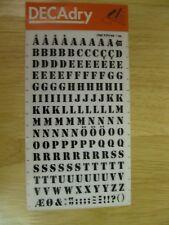 1 x Decadry Rub-on Black Letters  Transfer No 29 (24 pt 0.276 inch 7 mm)