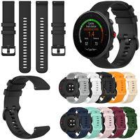22mm Silikon Armband Uhrenarmband für Polar Vantage M/Garmin Vivoactive 4/Active