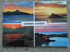 .JOHN HINDE.POSTCARD.MULTIVIEW  CORNISH SUNSETS.WITH 4 VIEWS.NOT POSTED.