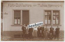 Foto/AK  Saarland  Korb & Stuhlflechterei von Mathias Hommerding um 1920 (U346)