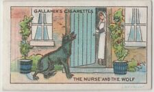 The Nurse And The Wolf Aesop's Fable Moral Story 1920s Ad Trade Card